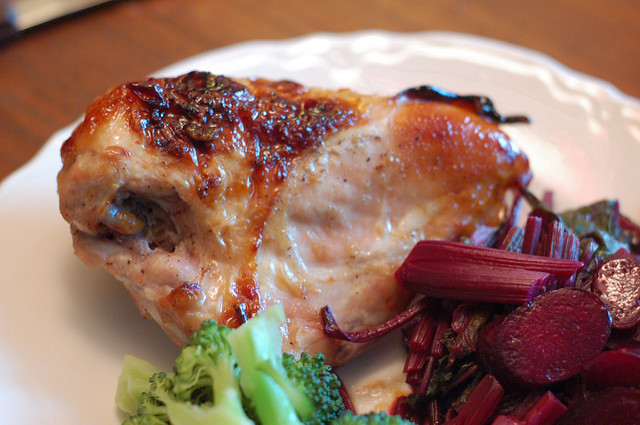 jam-glazed chicken dinner