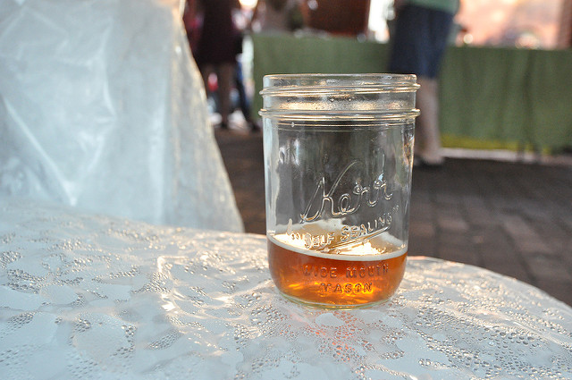beer in jar