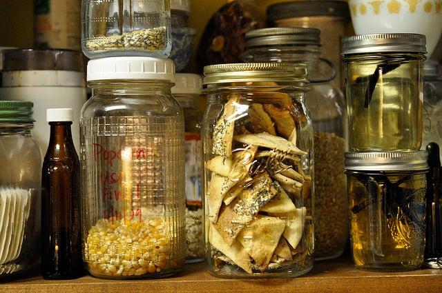 crackers on a shelf