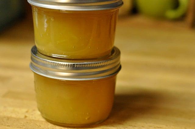 apple-ginger jam half pints