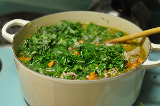 soup with kale