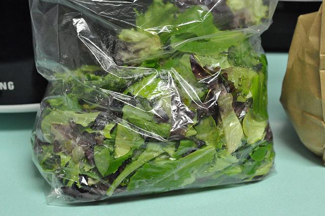 bag of local salad greens