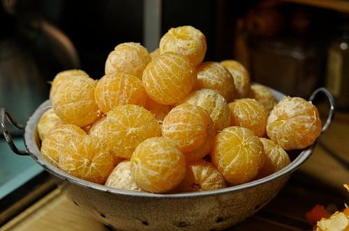 colander of clementines