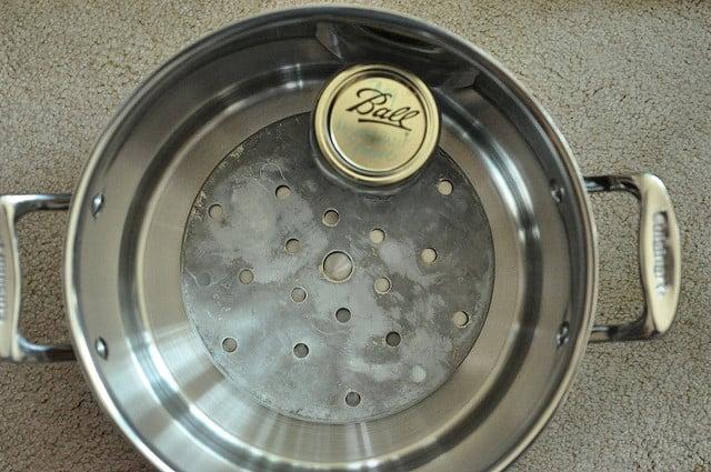 stock pot becomes a canning pot