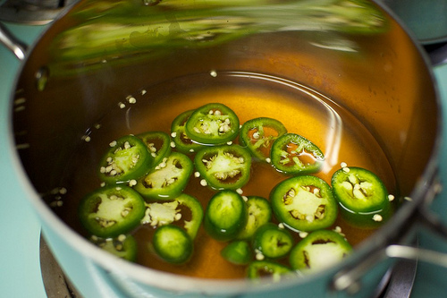 steeping chiles