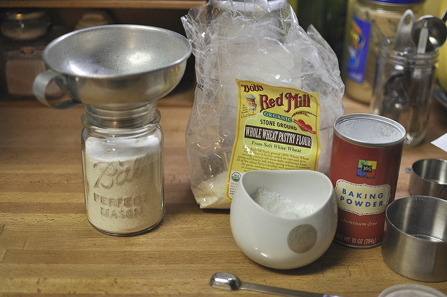 filling the jar