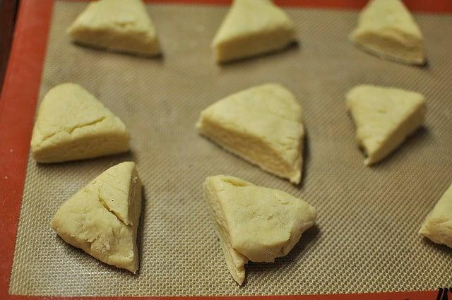 cream scones, unbaked