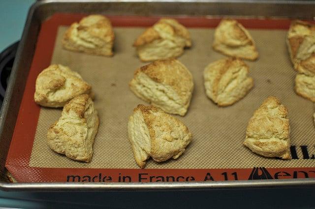cream scones, baked