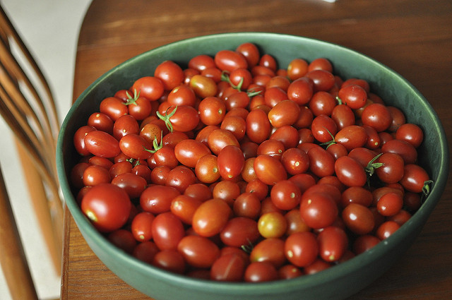 cherry tomatoes from Little Acre Homestead