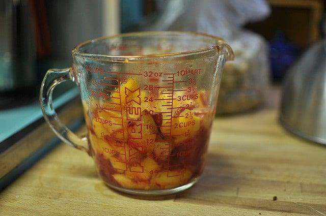 2 1/2 cups chopped fruit