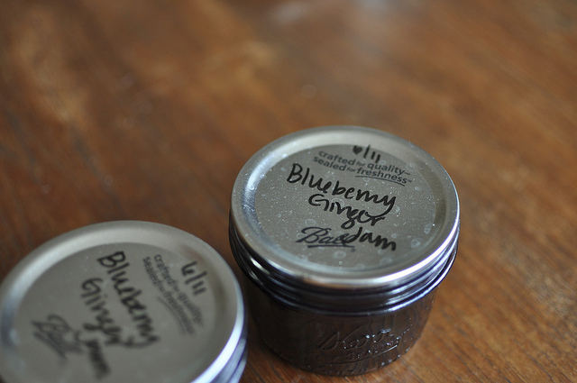 finished blueberry ginger jam