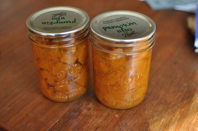 pressure canned pumpkin