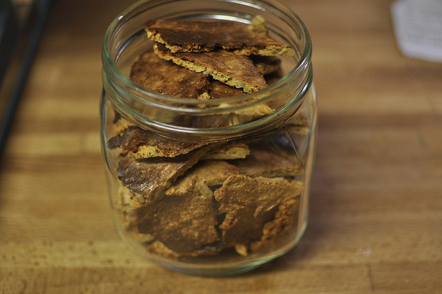cheese/seed crackers in a jar