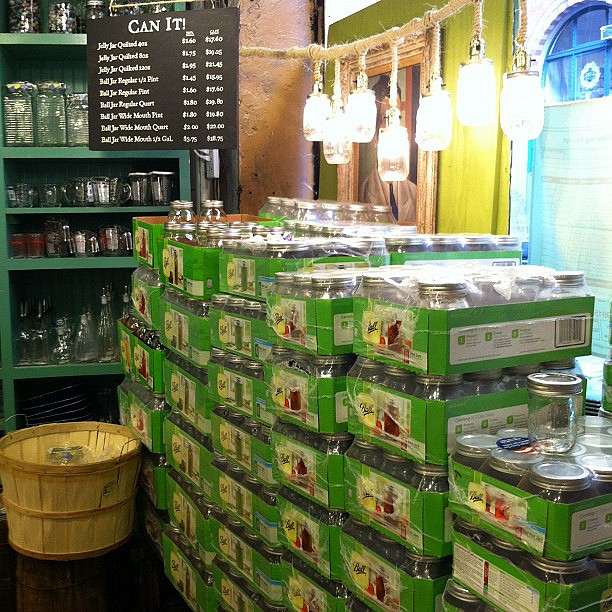 Canning section at Fishs Eddy in New York.