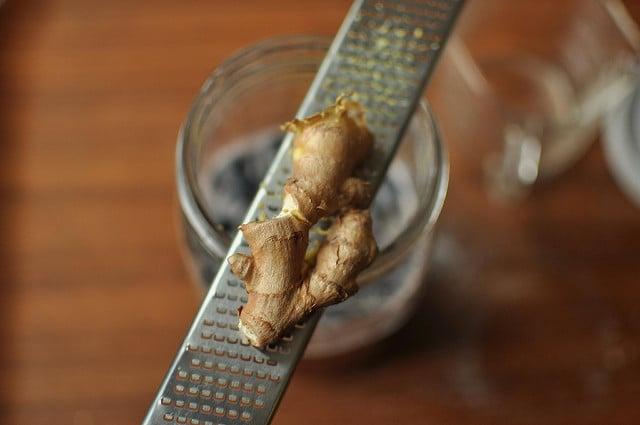 grating ginger
