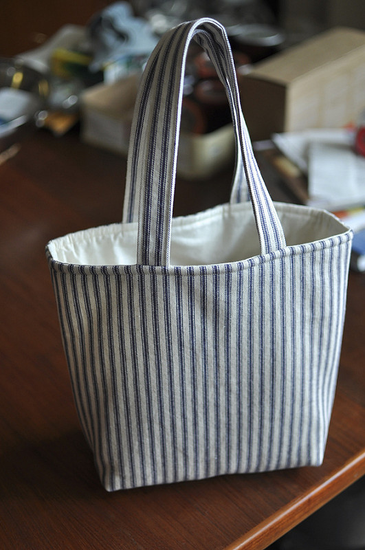 ticking lunch bag