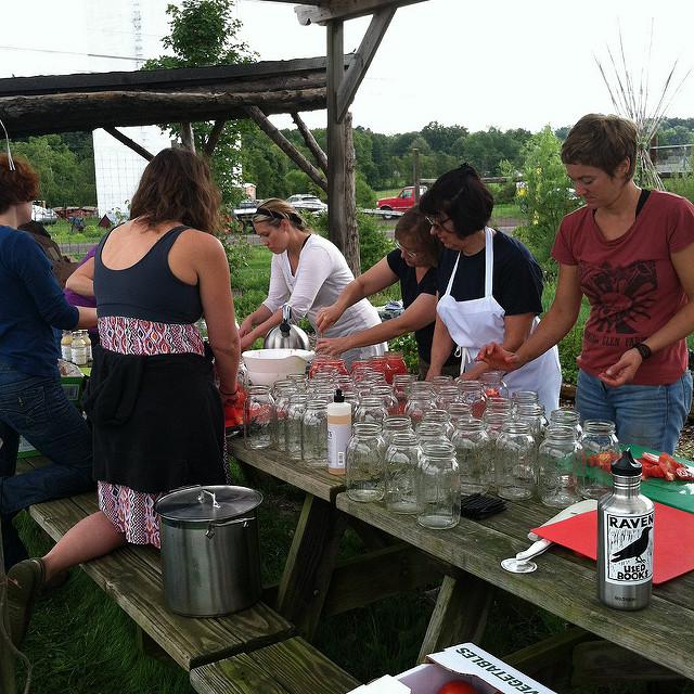 prepping jars