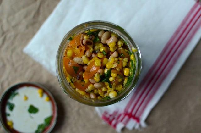 black-eyed pea salsa above