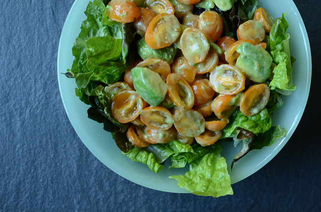 salad with preserved lemon dressing