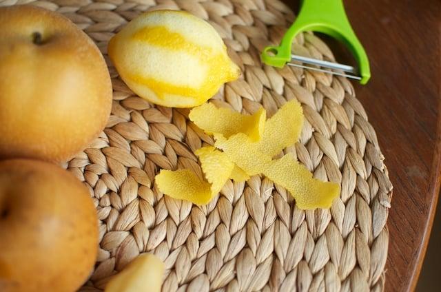 lemon zest strips