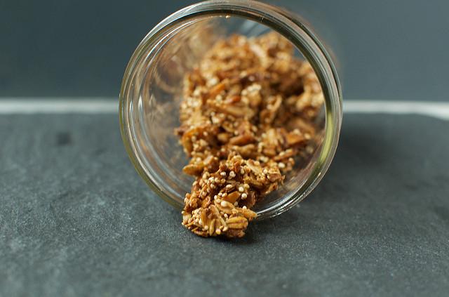 coconut quinoa granola spill