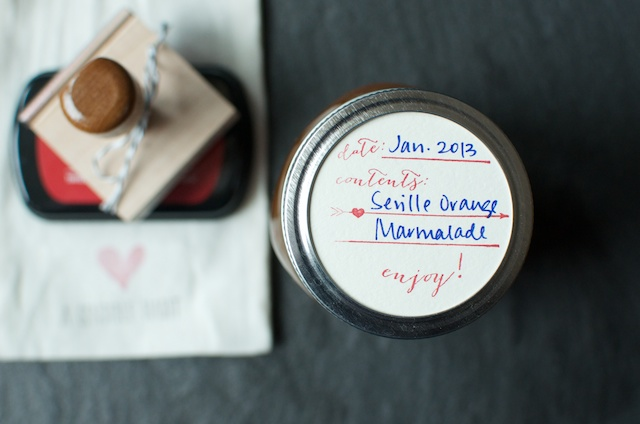 seville orange marmalade label