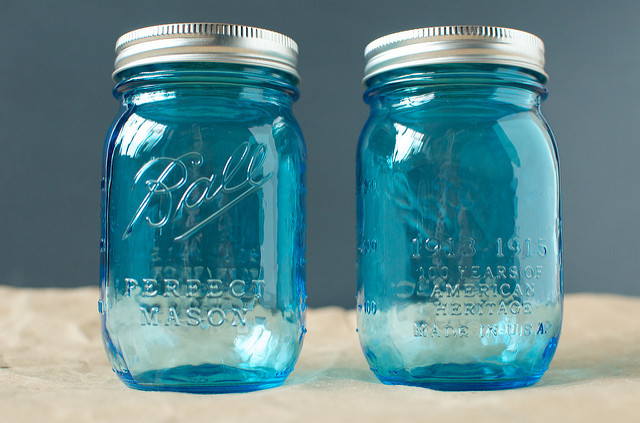 Vintage-style Jars, front and back