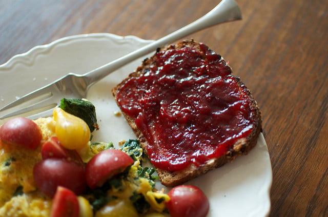 black velvet apricot jam on toast
