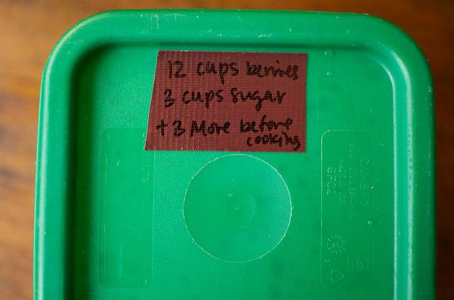 labeled container