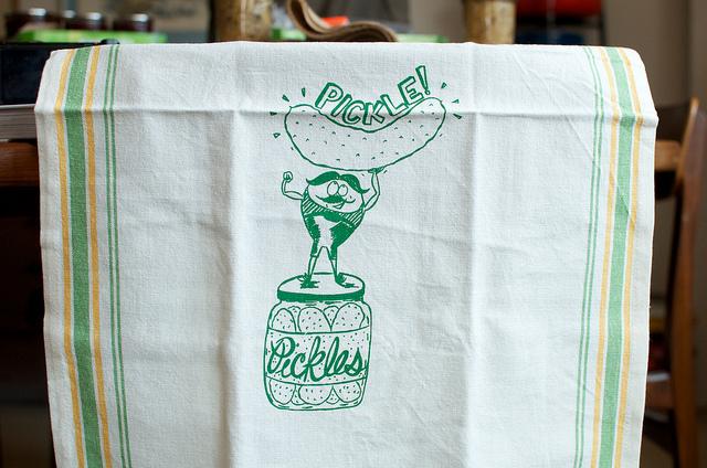 Fern & Fisk pickle towel
