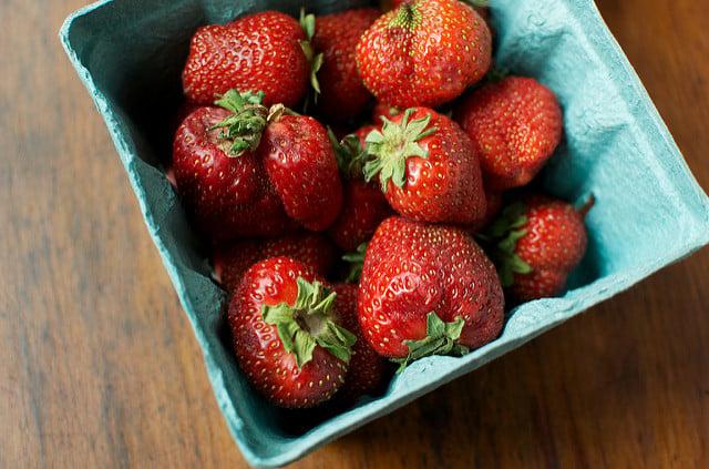 a scant quart of strawberries