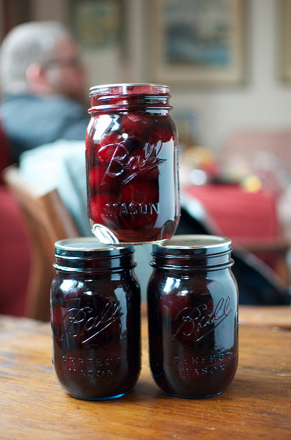 rosemary pickled cherries from Smoke & Pickles