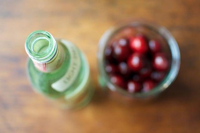 rum and sweet cherries