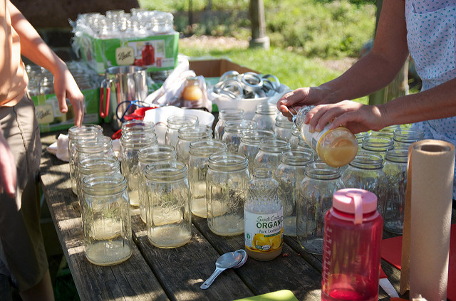 doling out lemon juice