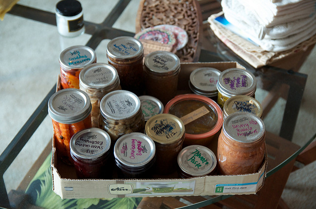 a jar coffee table installation