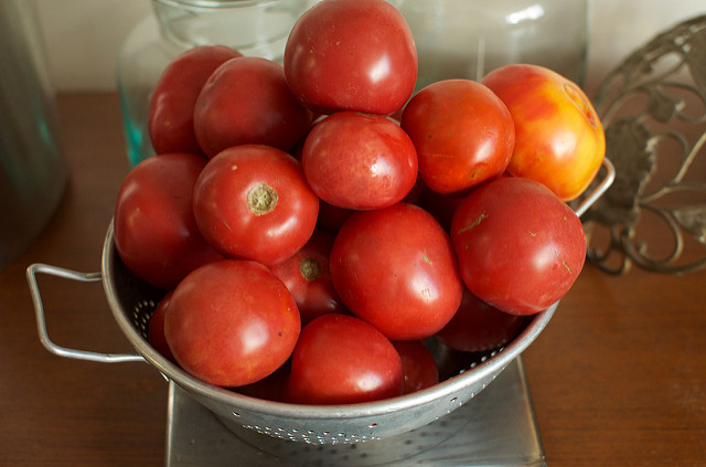 five pounds tomatoes