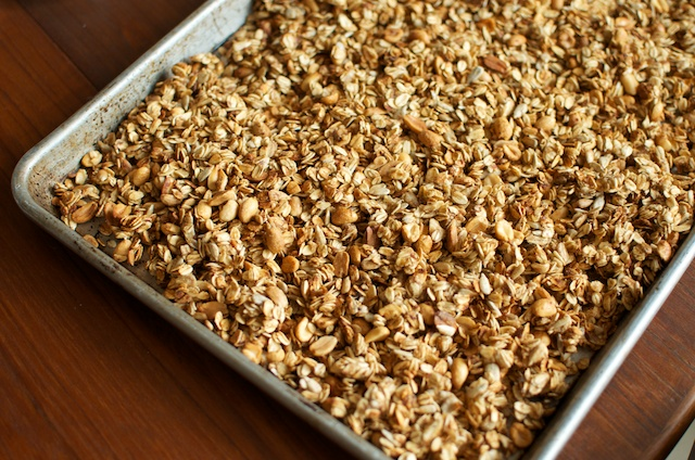 tray of granola