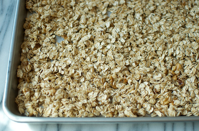 granola ready for the oven