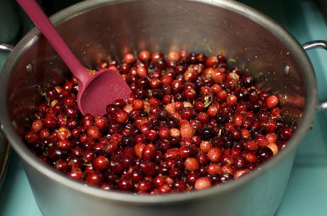 cranberries in a pot