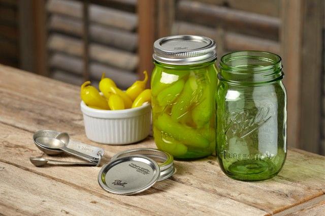 green heritage jars in situ