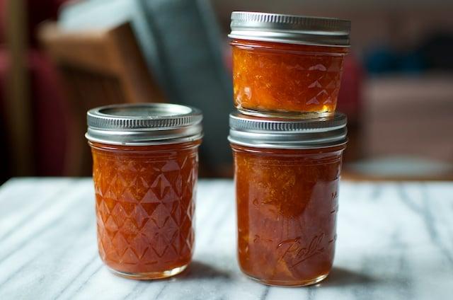 finished orange jam