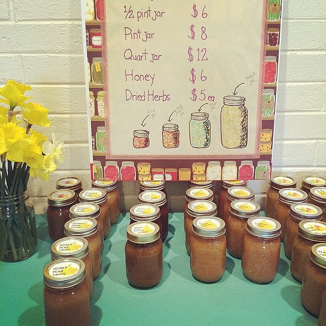 Jars at my book event today.