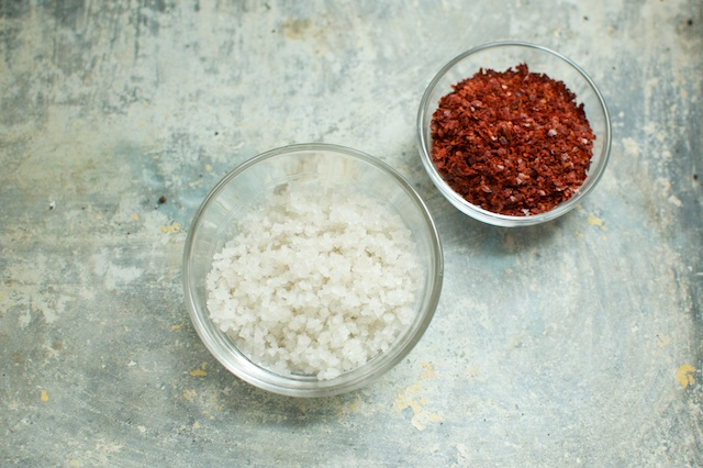 salt and crushed peppers - Food in Jars