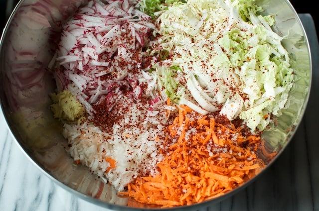 spiced kimchi veg - Food in Jars