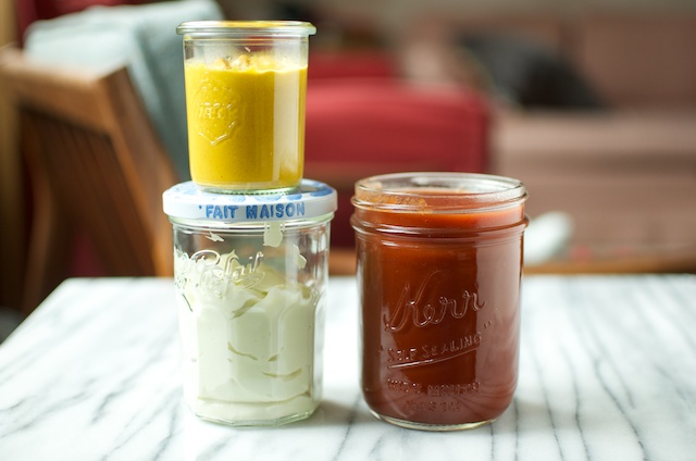 condiments together