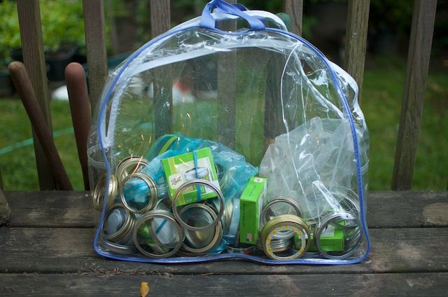 bag of canning gear