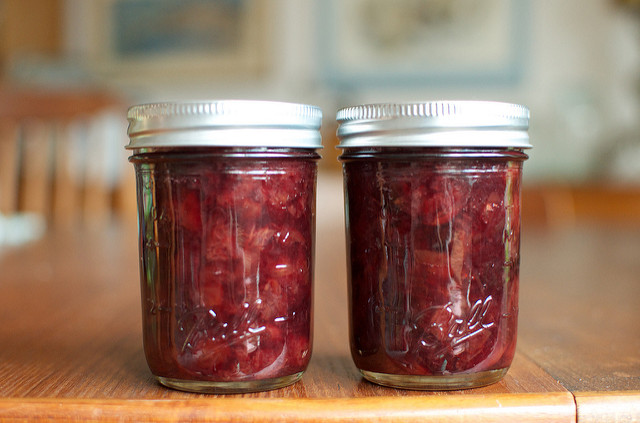 sweet and sour cherry jam