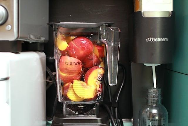 peaches in blender