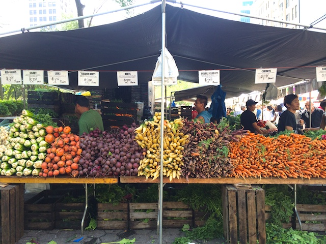root veg at Union Square