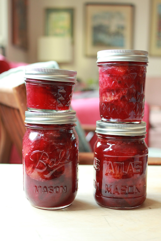 vertical pickled plums